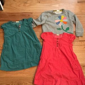 Mini boden  dress bundle 6-7Y and sweater